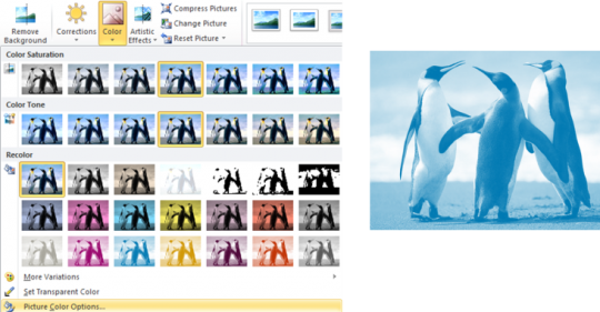 Image colour overlay