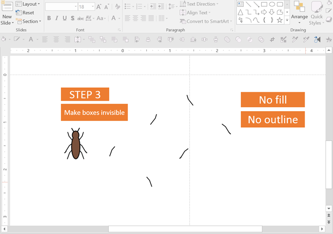 moving creatures in powerpoint