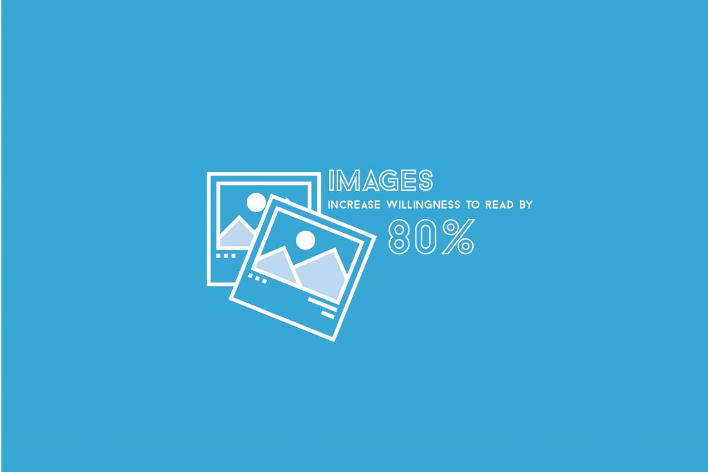 Images increase the willingness to read by 80%.