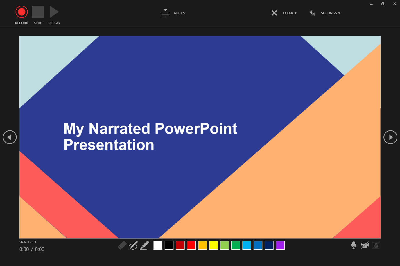 recording narration in powerpoint
