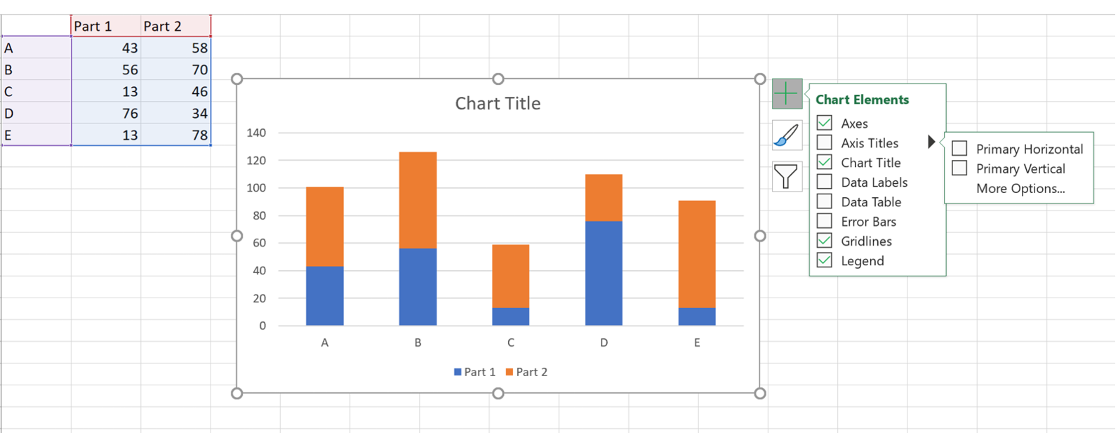 How to add live total labels to graphs and charts in Excel