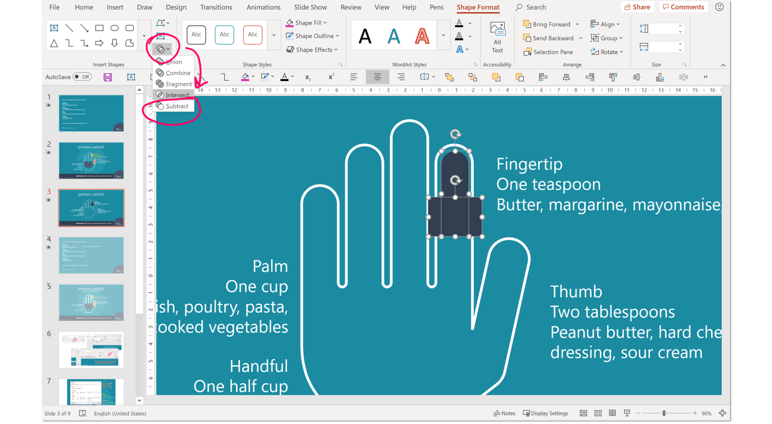 PowerPoint boolean tools